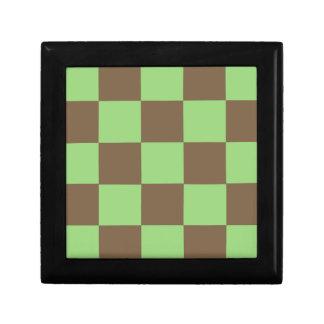 Boîte À Souvenirs Brown et damier vert