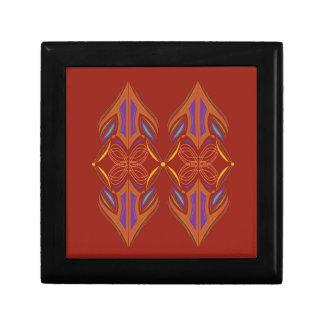 Boîte À Souvenirs Brun d'eco de mandalas de conception