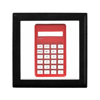 Boîte À Souvenirs Calculatrice rouge de calculatrice