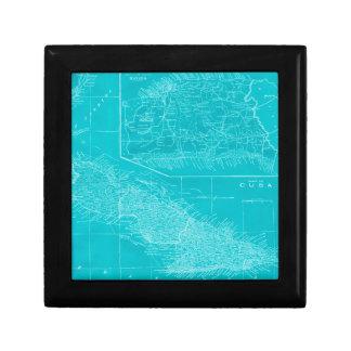 Boîte À Souvenirs Carte bleue du Cuba