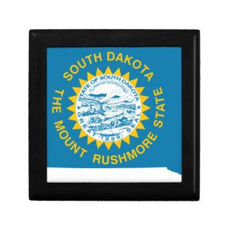 Boîte À Souvenirs Carte de drapeau du Dakota du Sud