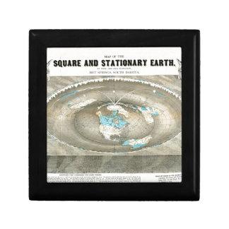 Boîte À Souvenirs Carte plate de la terre