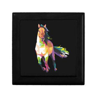 Boîte À Souvenirs Cavalier courant coloré d'étalon de cheval