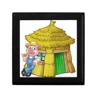 Boîte À Souvenirs Chambre de paille de conte de fées de trois petite