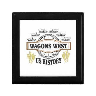 Boîte À Souvenirs chariots occidentaux nous histoire