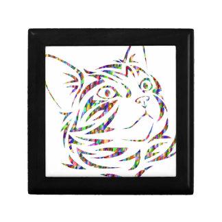 Boîte À Souvenirs chat coloré