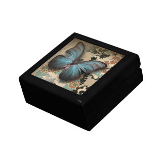 Boîte À Souvenirs chaussure vintage de papillon floral de steampunk