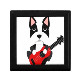 Boîte À Souvenirs Chien de Boston Terrier d'amusement jouant la