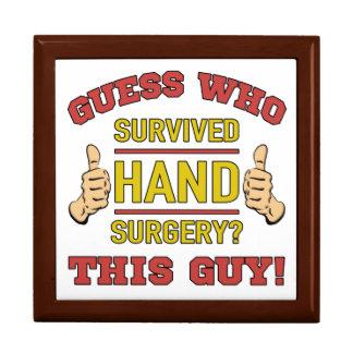Boîte À Souvenirs Chirurgie drôle de main