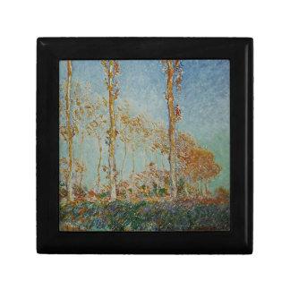 Boîte À Souvenirs Claude Monet - l'illustration de peupliers