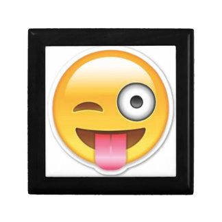 Boîte À Souvenirs Clin d'oeil souriant effronté d'emoji
