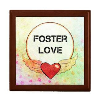 Boîte À Souvenirs Coeur adoptif d'aquarelle d'amour