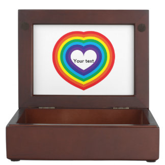 Boîte À Souvenirs Coeur d'arc-en-ciel