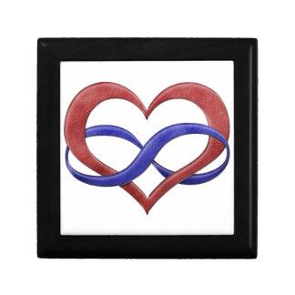 Boîte À Souvenirs Coeur d'infini de fierté de Polyamory