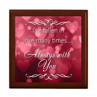 """Boîte À Souvenirs Coeurs rouges de Bokeh de Valentine """"toujours vous"""
