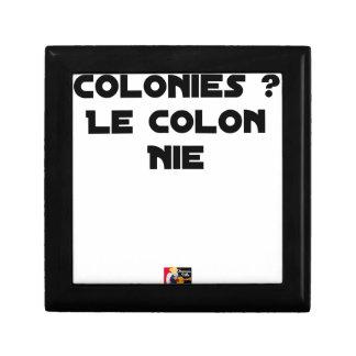 Boîte À Souvenirs COLONIES, LE COLON NIE - Jeux de mots