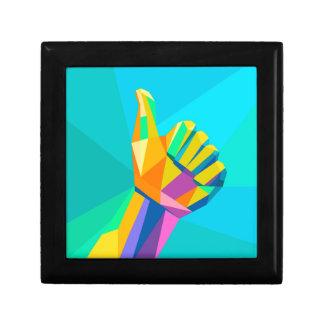 Boîte À Souvenirs Comme le style géométrique de signe de main