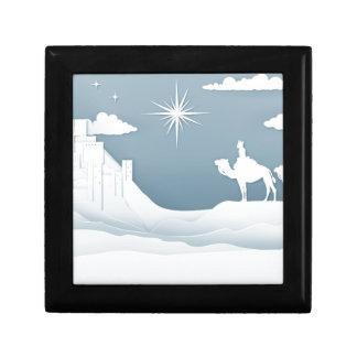 Boîte À Souvenirs Concept de Noël de nativité de sages