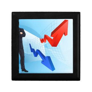 Boîte À Souvenirs Concept financier de conseiller d'investissement
