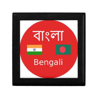 Boîte À Souvenirs Conception bengali de langue