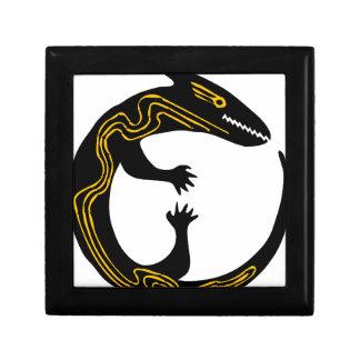 Boîte À Souvenirs conception blanche de noir d'inspiration d'art de