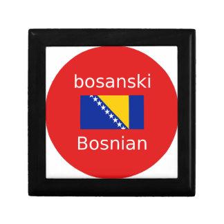 Boîte À Souvenirs Conception bosnienne de langue