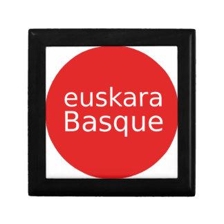 Boîte À Souvenirs Conception de langue Basque