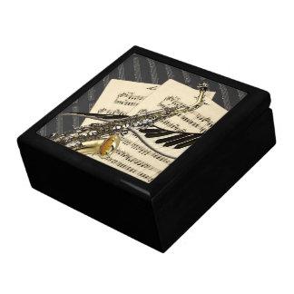 Boîte À Souvenirs Conception de saxophone et de musique de piano