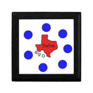 Boîte À Souvenirs Conception de ville de Dallas, le Texas (grand D)