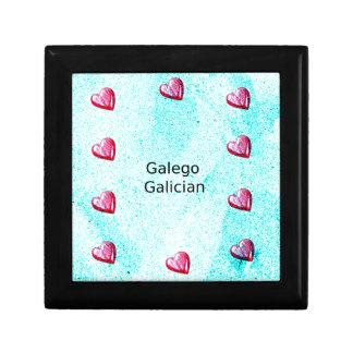Boîte À Souvenirs Conception galicienne de langue (de Galego)