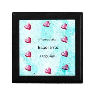 Boîte À Souvenirs Conception internationale de langue d'espéranto