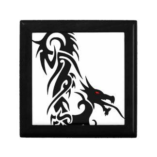 Boîte À Souvenirs Conception noire de tatouage de dragon