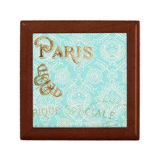 Boîte À Souvenirs Conception vintage d'or de Paris