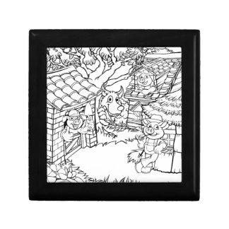 Boîte À Souvenirs Conte de fées de trois le petit porcs