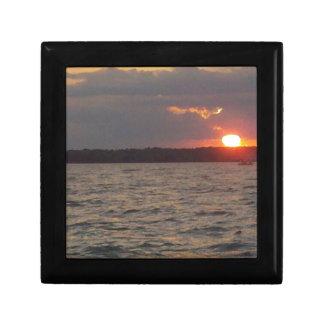 Boîte À Souvenirs Coucher du soleil sur le lac Houghton