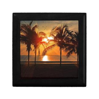 Boîte À Souvenirs Coucher du soleil tropical