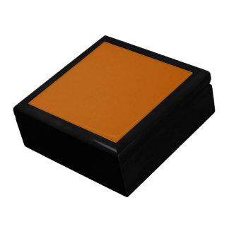 Boîte À Souvenirs Couleur solide d'épice de citrouille