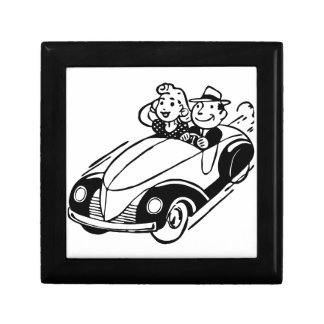 Boîte À Souvenirs Couples vintages de voiture