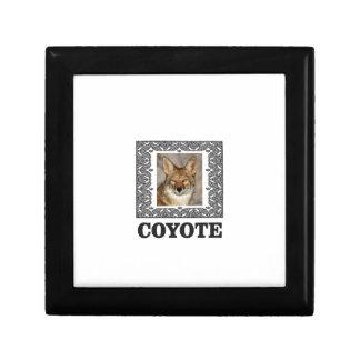 Boîte À Souvenirs coyote dans une boîte