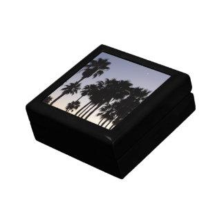 Boîte À Souvenirs Crépuscule avec la scène tropicale de palmiers