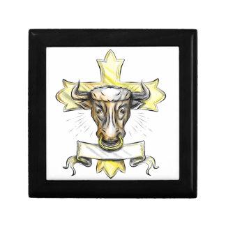 Boîte À Souvenirs Croix chrétienne principale de Bullock