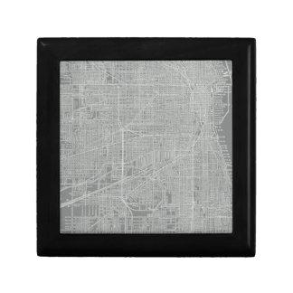 Boîte À Souvenirs Croquis de carte de ville de Chicago