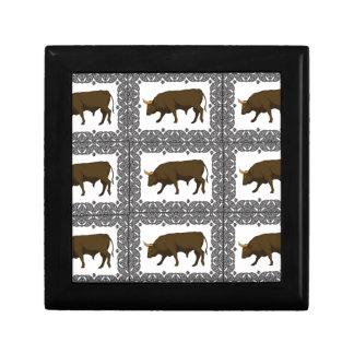 Boîte À Souvenirs cubes bruns en taureaux