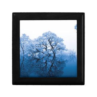 Boîte À Souvenirs De nature d'inspiration d'arbres de bleu art