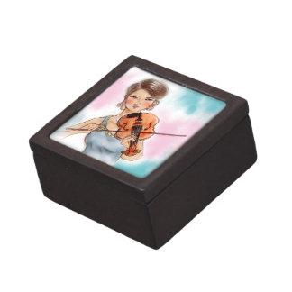 Boîte À Souvenirs De Première Qualité Boîte-cadeau vintage colorée de fille - violon