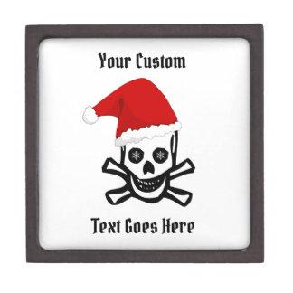 Boîte À Souvenirs De Première Qualité Crâne de pirate de Noël d'amusement avec votre