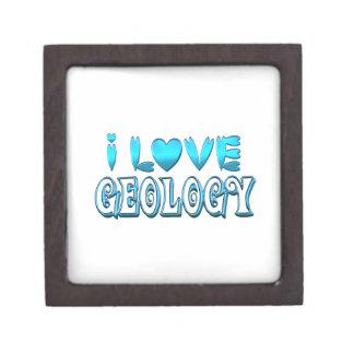 Boîte À Souvenirs De Première Qualité J'aime la géologie