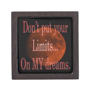 Boîte À Souvenirs De Première Qualité Ne mettez pas VOS limites sur mon rêve