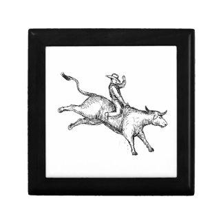 Boîte À Souvenirs Dessin de cowboy de rodéo d'équitation de Taureau