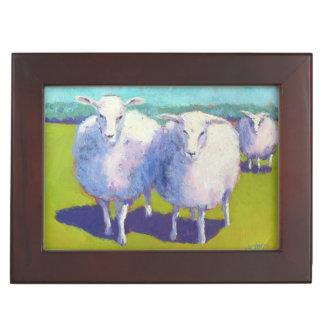 Boîte À Souvenirs Deux moutons dans le domaine